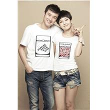 3607 Couple Student T-Shirts (Boy = sparking water))