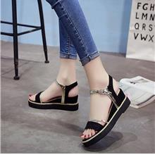 Summer New Fish Mouth Sandals Slope With Female Shoes Korean Version o)