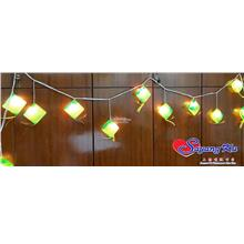 HARI RAYA AIDILFITRI DECORATION LIGHT GREEN KETUPAT 5138/12L 9CM