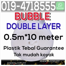 Bubble Wrap Double Layer 0.5m*10meter Roll Buble Packing Poslaju Pos