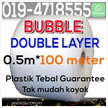 Bubble Wrap Double Layer 0.5m*100meter Roll Poslaju Packing Wrapping