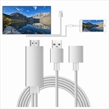 iPhone Lightning Samsung MHL HDMI Adapter Cable Air Play Android TypeC