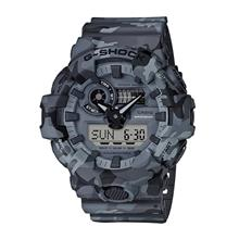 Casio G-Shock Camouflage Gray Front Button Design GA-700CM-8ADR