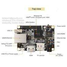 Orange Pi One Plus H6 Quad Core 1GB DDR3 Ram Development Board