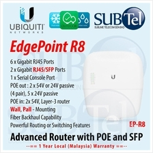 Ubiquiti EdgePoint EP-R8 Outdoor Gigabit SFP POE Router Switch