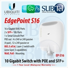 Ubiquiti EdgePoint EP-S16 Outdoor 10G SFP+ 802.3af POE Switch AirFiber