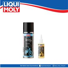 Liqui Moly Bike Chain Cleaner & Bike Chain Oil Wet Lube, 6054/6052)
