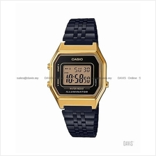 CASIO LA680WEGB-1A STANDARD stopwatch alarm SS bracelet black gold