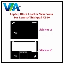 Black Leather Skin Cover Lenovo Thinkpad X240 12.5 Sticker Set