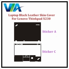 Black Leather Skin Cover Lenovo Thinkpad X230 Sticker Set