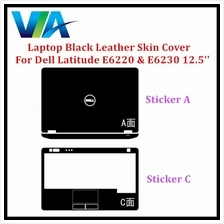 Black Leather Skin Cover Dell Latitude E6220  & E6230 12.5'''' Sticker S