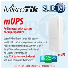 Outdoor Mikrotik mUPS POE UPS Car Bus Solar Auto Battery Malaysia