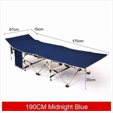 PORTABLE FOLDING SINGLE BED HOSPITAL OUTDOOR OFFICE 190CM