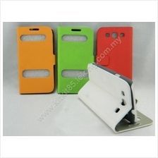 Samsung Galaxy S3 I9300 Side Flip Slim Table Talk Leather Pouch Case