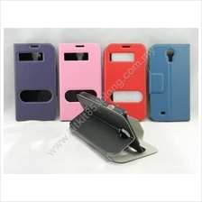 Samsung Galaxy S4 I9500 Side Flip Slim Table Talk Leather Pouch Case