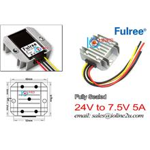 Fulree 12V/24V 10.5V-35Vdc to 7.5V 5A power converter step down IP68 S