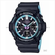 CASIO GAS-100PC-1A G-SHOCK ana-digi solar 90's resin pale blue SC