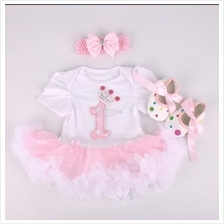 Princess Baby Girl Rompers Birthday Gift Set (6 patterns available)