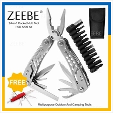 ZEEBE Multi Function Portable Folding Hammer Pliers Tools Set