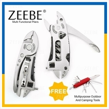 ZEEBE Multi Function Portable Folding Wrench Tools Screw Knives Set