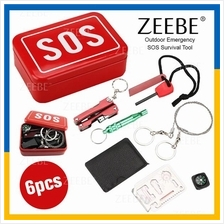 ZEEBE SOS Emergency Box Outdoor Survival Kits 6 In 1