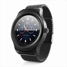 SMA - R HEART RATE MONITOR SMART WATCH DUAL BLUETOOTH WRISTBAND (BLACK