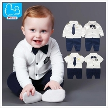 Baby Boy Rompers Children Summer Beard Style Gentleman Suits One-piece