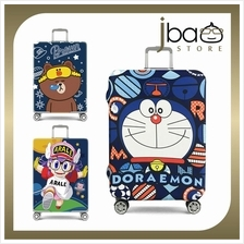 D.Beaner Elastic Luggage Protector Cover Doraemon Brown Arale