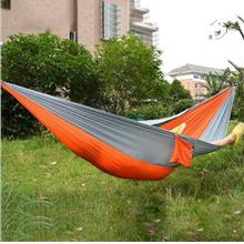 PORTABLE PARACHUTE NYLON FABRIC HAMMOCK FOR TWO PERSON LOVER FAMILY OU