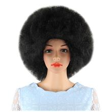 SHORT BLACK WIGS INFLATED FLUFFY AFRO HAIR FOR WINDOW MODELS COSPLAY H