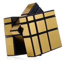 SHENGSHOU CHALLENGING 3 X 3 X 3 BRUSHED SILVER CUBE PUZZLE TOY (GOLDEN