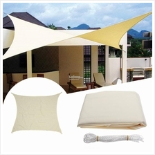 3*3M Square Sun Shade Sail UV Water Resistant Canopy Garden Awning