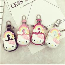 Cute Car Key Bag Leather Keychain