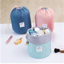 High Quality Waterproof Barrel Travel Cosmetic Bag