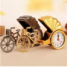 Vintage Car Alarm Clock Personality Combination Tricycle Alarm Clock
