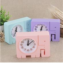 Cartoon Baby Elephant Student Child Alarm Clock