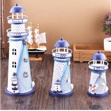 Mediterranean Style Iron Lighthouse Flash Ocean Arts