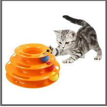 Three-layer Turntable Pet Cat Toy With Balls Puzzle Plastic