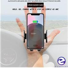 Auto-Lock Sensor Air Vent Qi Wireless Phone Mount Holder Charger
