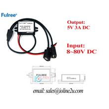 12V/24v/48v/60v/80V to 5V 3A 15W step down converter charger 2*USB por