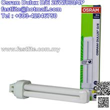 Osram Dulux D/E 26W/830 G24q-3 4Pins (made in Germany)