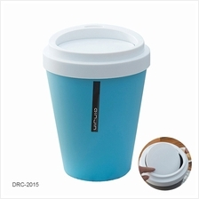 Household 5L Plastic Home Office Desk Corner Trash Dustbin Sky Blue