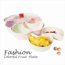 Plastic Flower Shape Dry Fruit Candy Fruit Plate Snacks Food Container