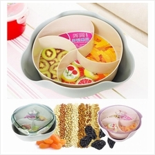 Plastic Dry Fruit Candy Fruit Plate Snacks Food Container