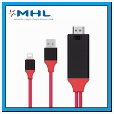iPhone Lightning 8pin to HDMI Converter Adapter MHL To HDMI HDTV Cable