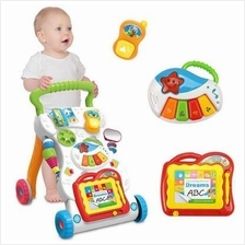 Baby Music Walker Trolley Educational Stand Kids Multi Functional Toys