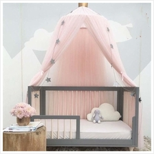 Mosquito Net Bed Canopy Round Lace Dome Princess Play Tent 240cm
