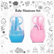 4pcs Mini Infant Baby Manicure And Pedicure Set Toddler Grooming