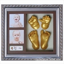 Creative DIY 3D Baby Bloom Hand Footprint Kit With Photo Frame