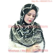 [DindabyV] Annda Delicate Embroidery Lace Shawl / Hijab LBR001B